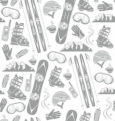 Winter sports collection pattern vector image vector image