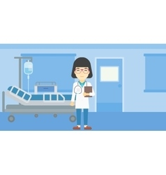 Doctor with file vector