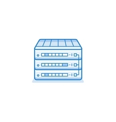 Network router icon vector image