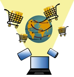 sales online 3 vector image