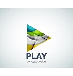 Play button logo business branding icon vector