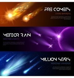 Space Horizontal Banners vector image