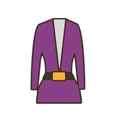 Suit elegant female icon vector