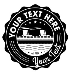 Travel Label vector image
