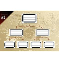 Vintage hierarchy diagram vector