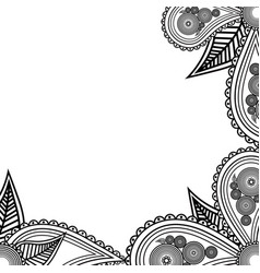 Hand drawn flowers banner handdrawn ornate for vector