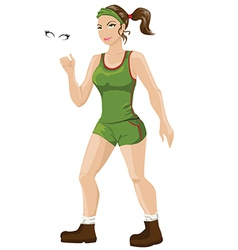 Athletic woman vector
