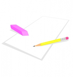 Pencil and elastic band vector