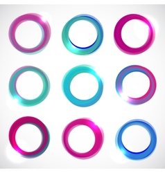 Round Color Circle Banners vector image