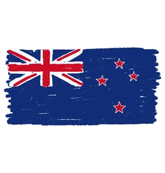 Flag of new zealand handmade vector