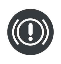 Monochrome round alert icon vector