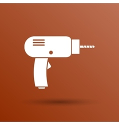 Drill icon power tool hand symbol manual vector