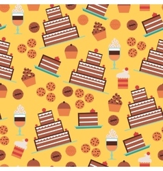 Confectionery seamless pattern vector