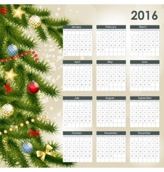 2016 new year calendar vector