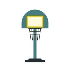 Basketball goal on a playground icon vector