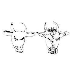 Artistic cow vector