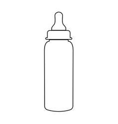 Baby bottle symbol black color path icon vector