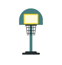 Basketball goal on a playground icon vector
