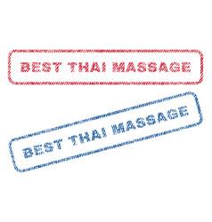 best thai massage textile stamps vector image