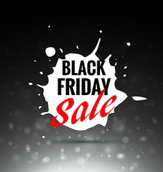 black friday sale label design in splash vector image vector image