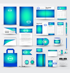 Business corporate identity template set with logo vector