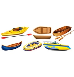 Different kind of boats vector