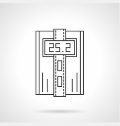 Digital thermostat flat line icon vector