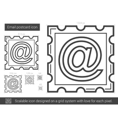 Email postcard line icon vector image