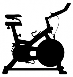 exercise bike vector image vector image