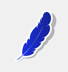 Feather sign new year bluish vector
