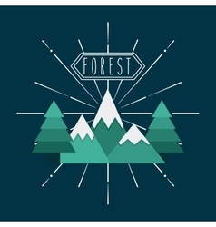 Forest icon design vector