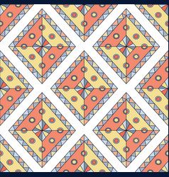 Geometric rhombus seamless pattern abstract vector