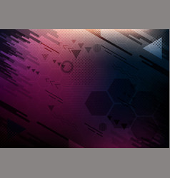 geometric shape with abstract background vector image
