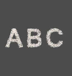 hand drawn sketch alphabet vector image vector image