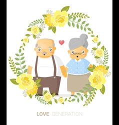 Love generation greeting card 4 vector image vector image