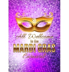 Mardi Gras Party Mask Holiday Poster Background vector image vector image