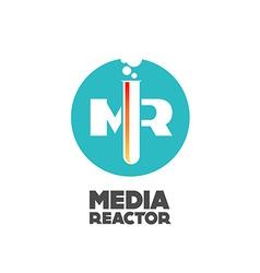 Media reactor logo concept vector