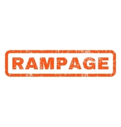 Rampage Rubber Stamp vector image