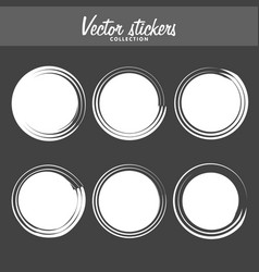 Set of vintage ink painted labels for greetings vector