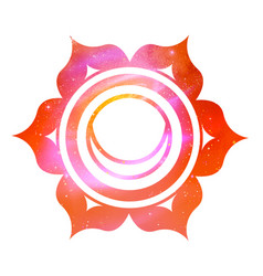 svadhisthana chakra with outer space vector image vector image