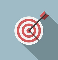 Target and arrow vector image vector image