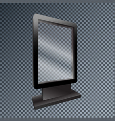 Template blank mockup outdoor lightbox for vector
