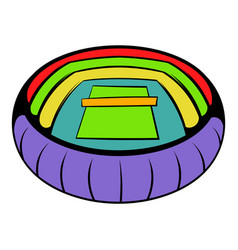 tennis stadium icon icon cartoon vector image