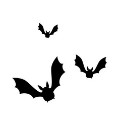 vampires black flying icon vector image
