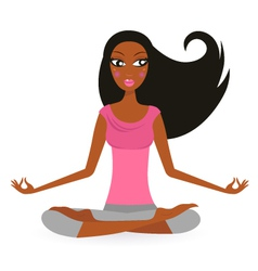 yoga woman vector image