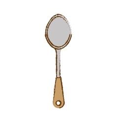 Gray big tablespoon icon image vector