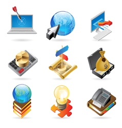 Icon concepts for success vector
