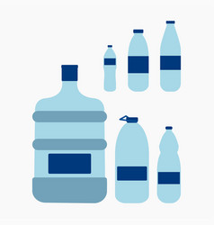 plastic water bottle vector image