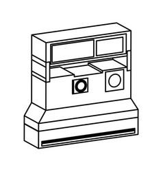 Retro instant camera photographic isolated icon vector