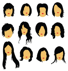 Hairstyles beauty color vector